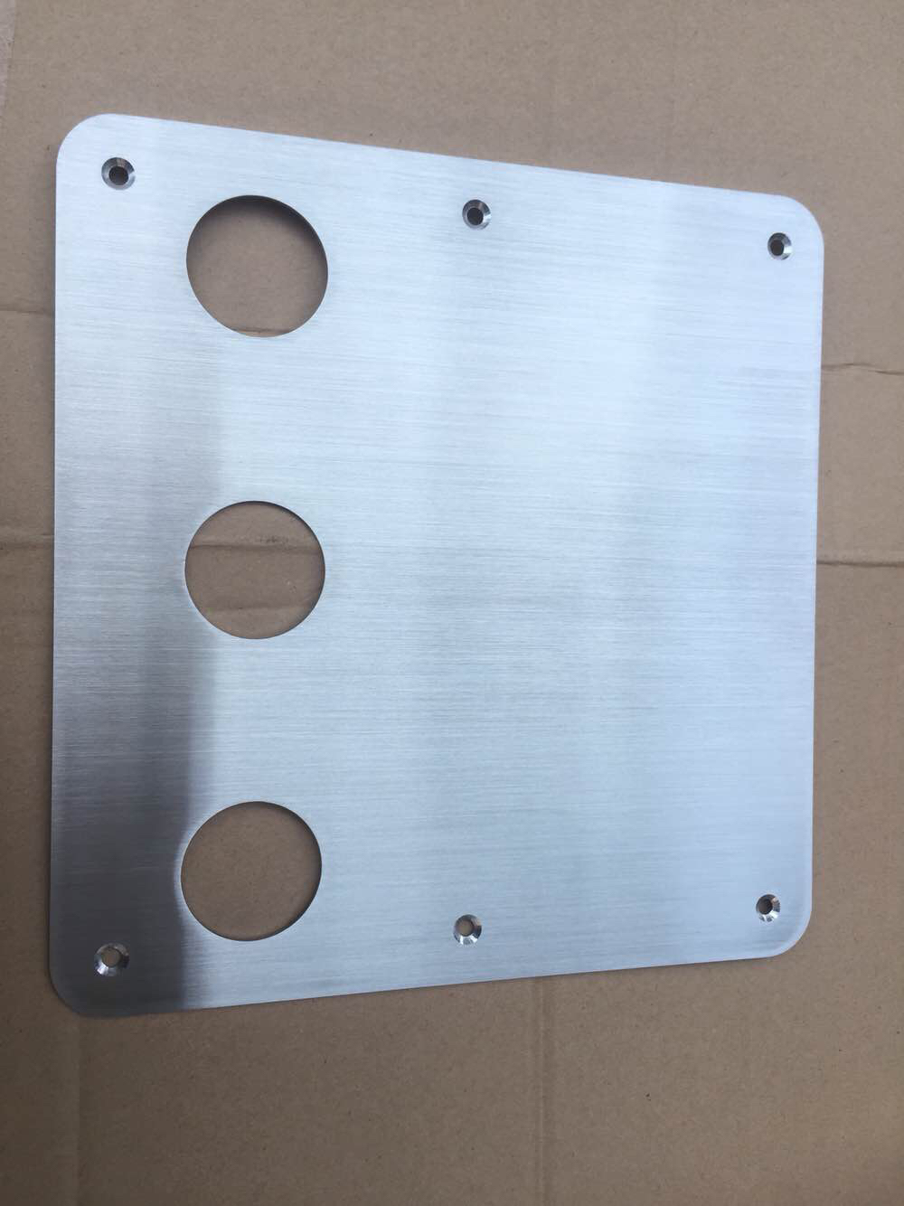 Custom make License Plate Cover Frame Polished Stainless Steel