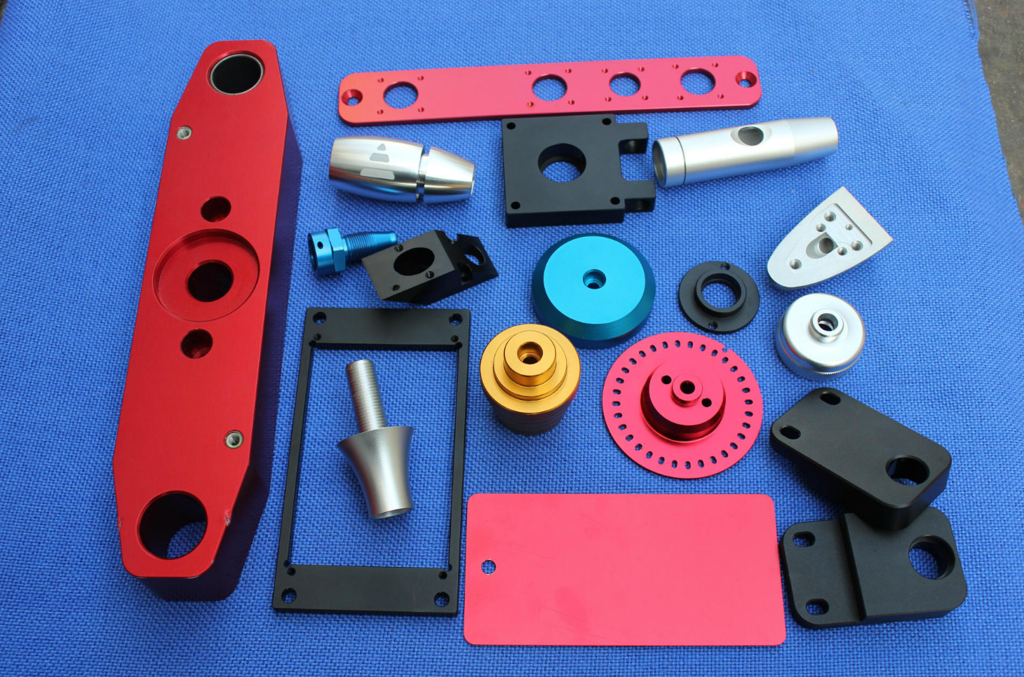 Custom CNC machining Parts and Anodizing Colors